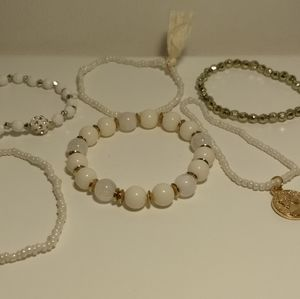PEARL BRACELET SET - Cute multiple layer jewelry